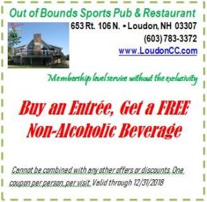 Buy entree, free non-alc beverage
