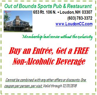 Restaurant Coupons Loudon Country Club